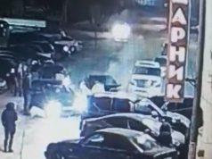 5 машин снес у ночного клуба лихач в Петропавловске