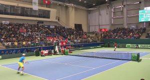 Сборная Казахстана по теннису вышла в 1/4 финала Кубка Дэвиса